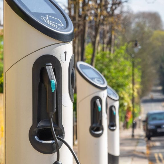 On Street Electric Car Charging Stations