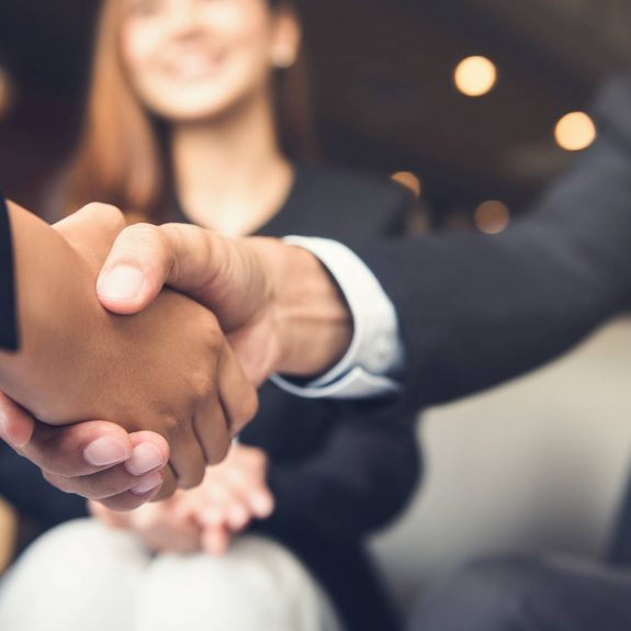 Businessman Shanking Hands With Business Partner